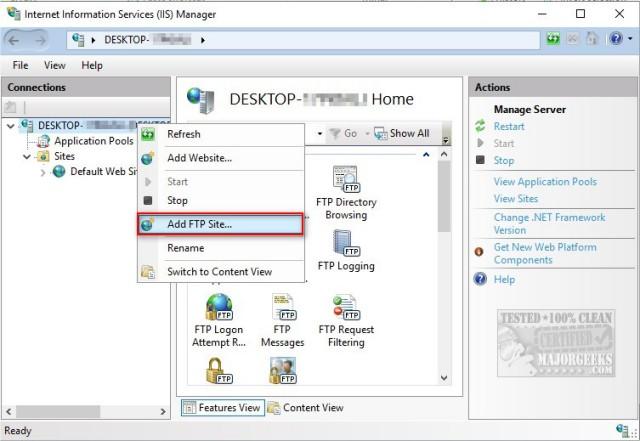 How to Set up an Ftp Server on Windows 10 - MajorGeeks