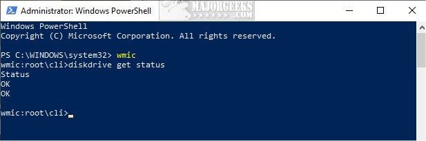 How to Check Your Hard Disk Health Using WMIC - MajorGeeks