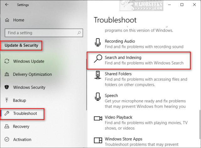 How to Fix Windows 10 Start Menu Search Not Working - MajorGeeks