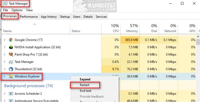 Explorer Exe – System Call Failed Error - MajorGeeks