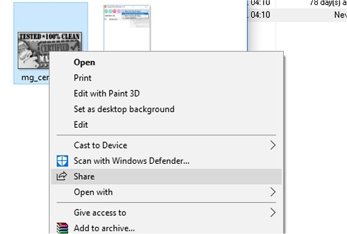 how to share on windows 10