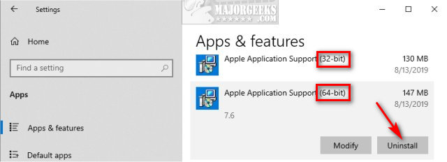 A Step by Step Guide to Removing Unwanted iTunes Components - MajorGeeks