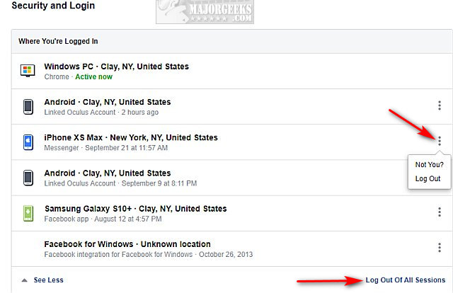 How to Secure Your Facebook Account - MajorGeeks