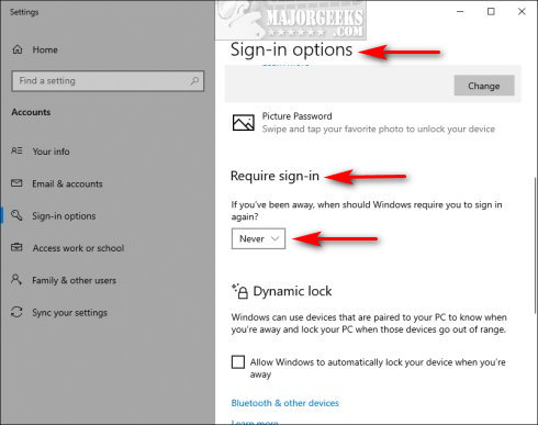 How to Disable the Windows 10 Login Screen - MajorGeeks