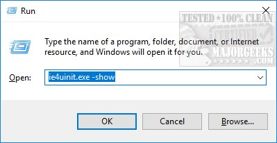 how to rebuild the windows icon cache when thumbnails or icons arenpress the windows key r and type in ie4uinit exe show followed by enter for windows 10 for windows 8 1, 7, vista or xp type follow the same steps but