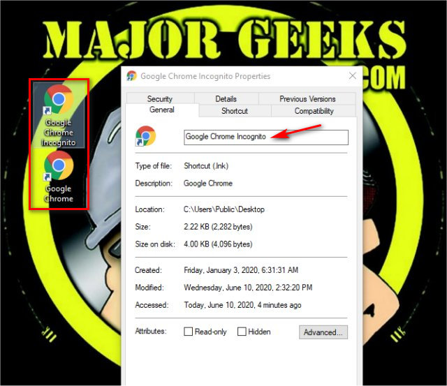 How To Start Google Chrome In Incognito Mode In Windows 7 And 10 Majorgeeks