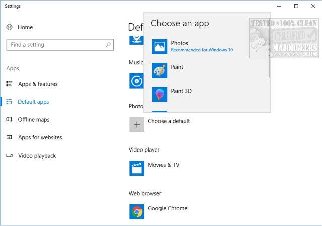 Windows 10 Won't Open JPG or JPEG Files - MajorGeeks