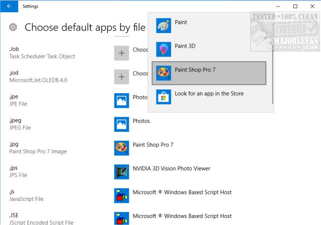 Windows 10 Won't Open JPG or JPEG Files - MajorGeeks