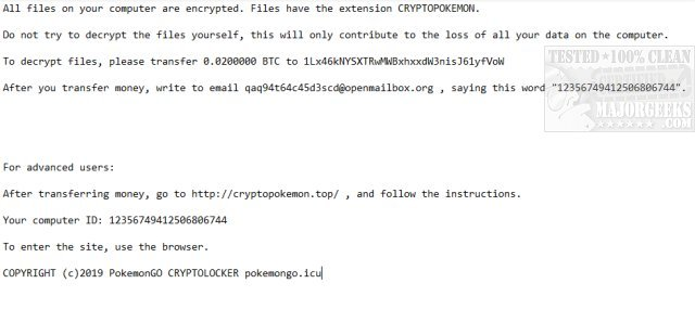 Download Emsisoft Decrypter for CryptoPokemon - MajorGeeks