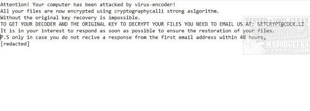 Download Emsisoft Decrypter for GetCrypt - MajorGeeks