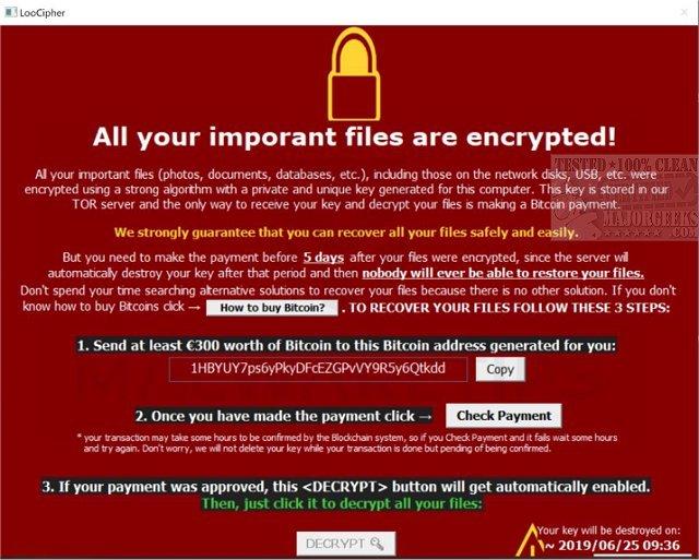Download Emsisoft Decrypter for LooCipher - MajorGeeks