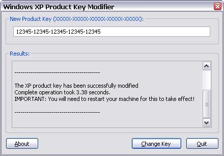 Download Windows XP Product Key Modifier - MajorGeeks