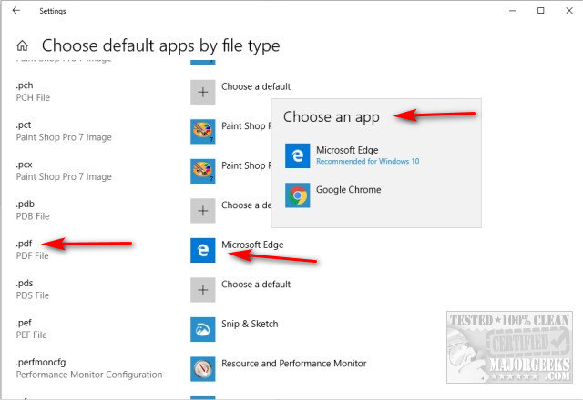 How to Stop Microsoft Edge From Opening PDF and HTML Files - MajorGeeks
