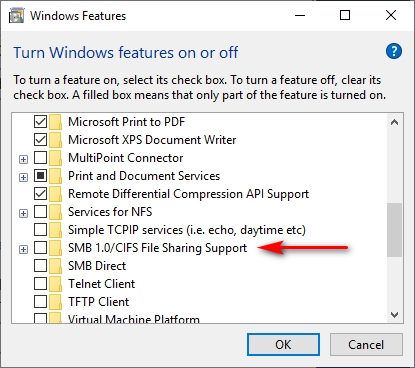 Your System Requires SMB2 or Higher Error on Windows 10 - MajorGeeks