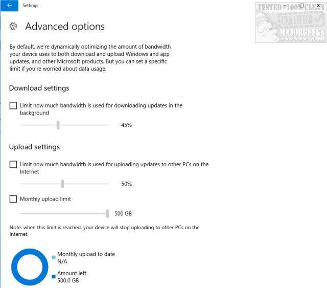 Limit the Bandwidth Windows Updates Uses in Windows 10