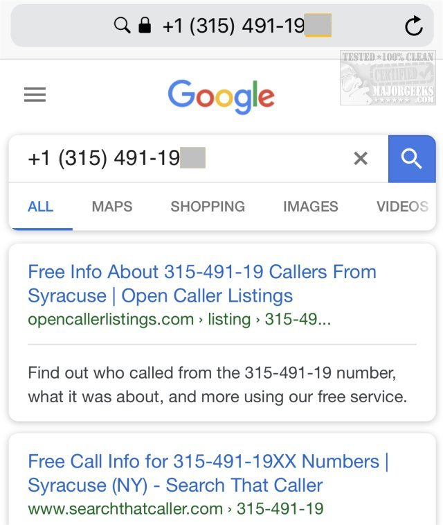 find out whose phone number called you for free