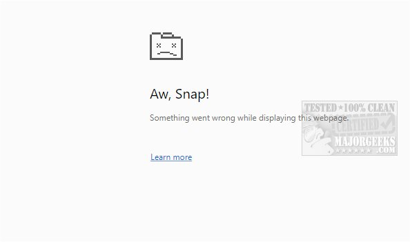 Aw, Snap! Something Went Wrong While Displaying This Webpage