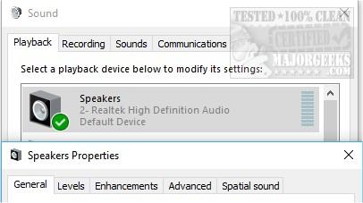 Computer Sound Volume Is Too Low on Windows - MajorGeeks