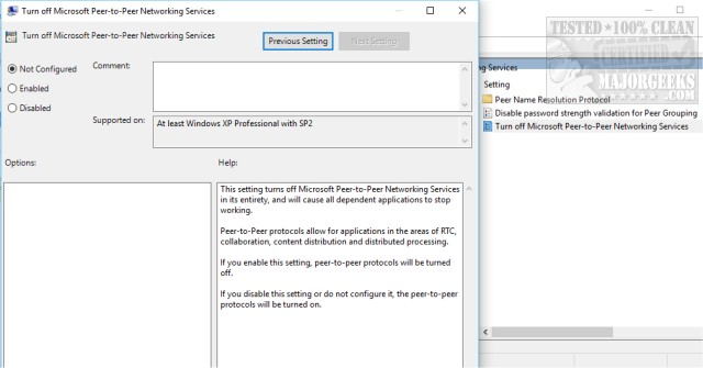 Windows Could Not the Start Peer Networking Grouping Service