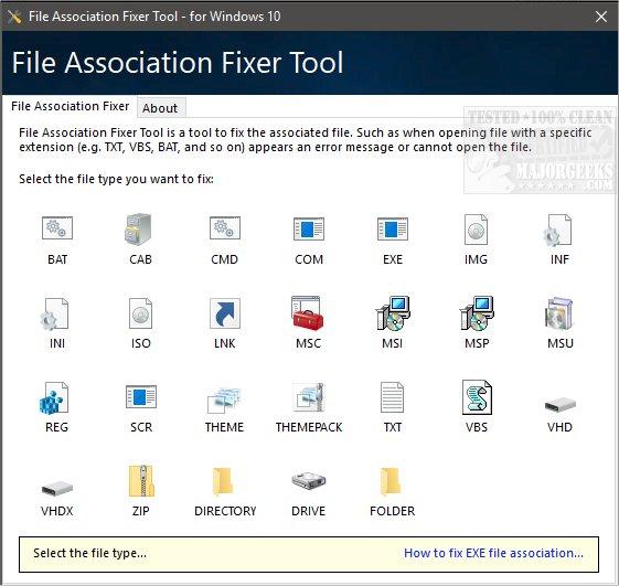 exe fixer tool windows 10