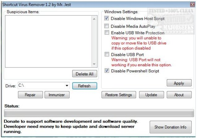 Shortcut Virus Remover Protects, Cleans Your USB Drives from the