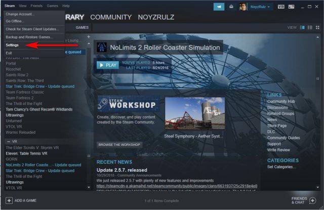 steam updating download