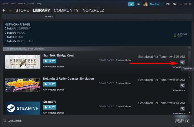 steam not updating games