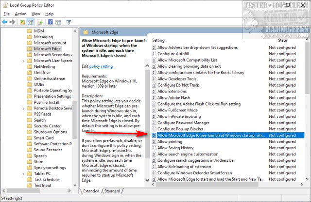 How to Stop Microsoft Edge From Running in the Background - MajorGeeks