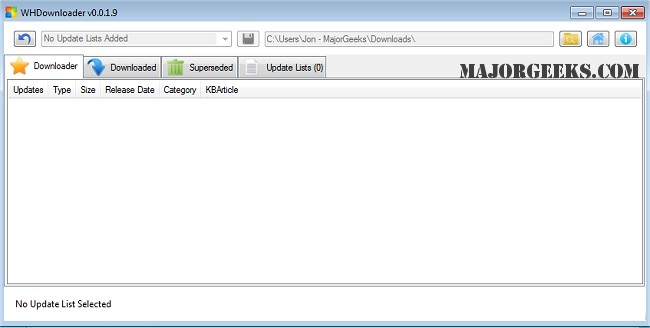 Download WHDownloader (Windows Hotfix Downloader) - MajorGeeks