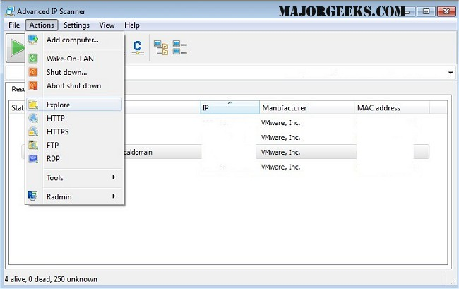 Download Advanced IP Scanner - MajorGeeks