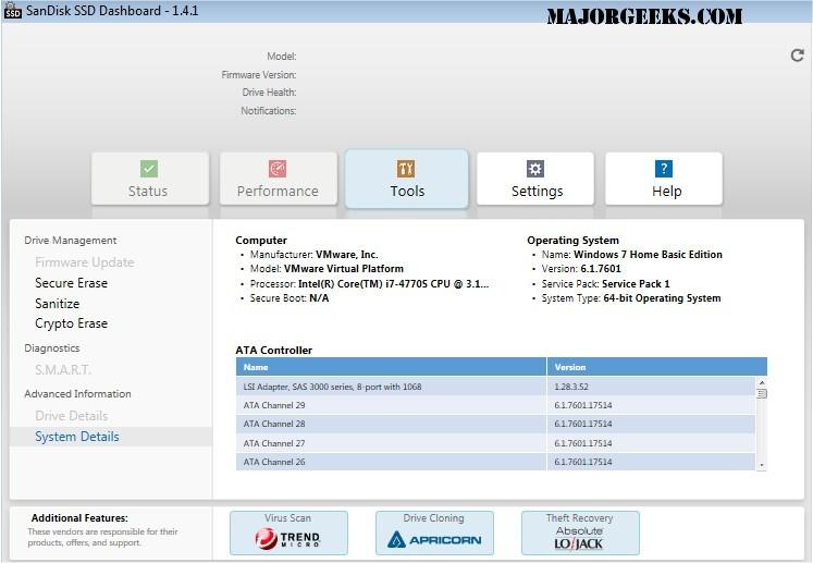 Download SanDisk SSD Dashboard - MajorGeeks