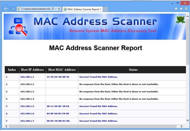 Mac Address Finder software, free download
