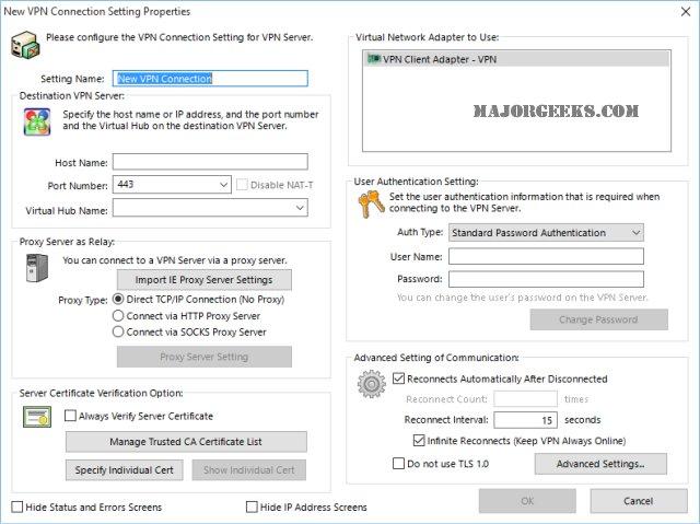 Download SoftEther VPN Client + VPN Gate Client Plugin - MajorGeeks