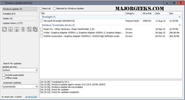 Download Windows Update MiniTool - MajorGeeks