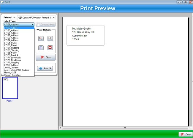 Download Ssuite Label Printer Majorgeeks