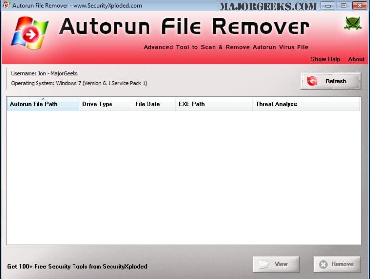 Download AutoRun File Remover - MajorGeeks