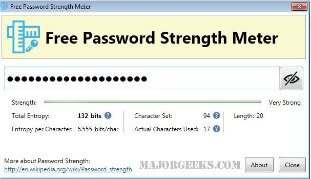 Download Free Password Strength Meter - MajorGeeks