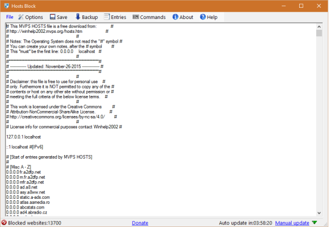 Download Hosts Blocker - MajorGeeks