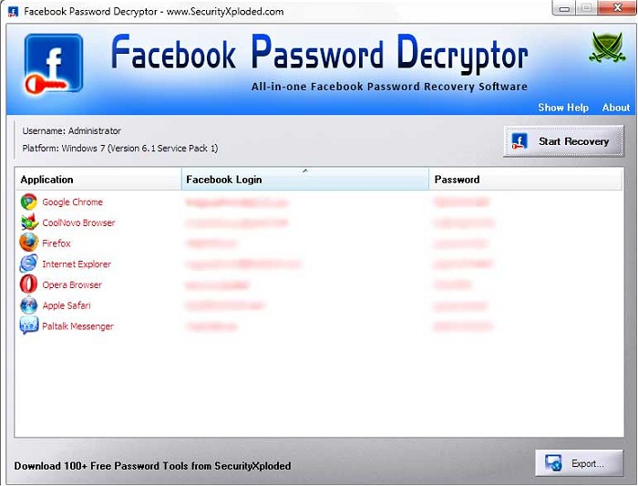 Download Facebook Password Decryptor - MajorGeeks