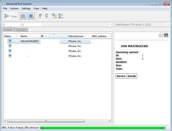 Download Advanced Port Scanner - MajorGeeks