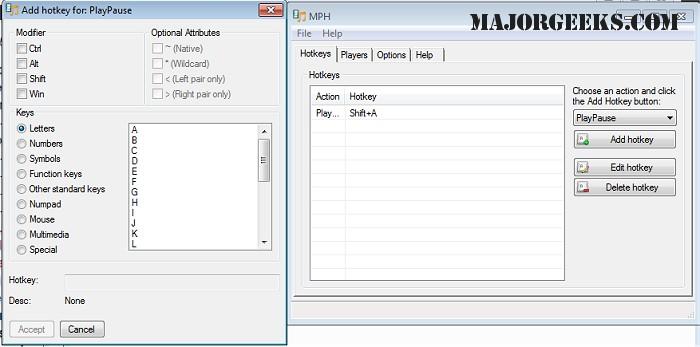 Download MPH (Media Player Hotkeys) - MajorGeeks