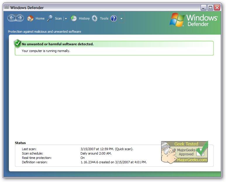 Download Microsoft Windows Defender - MajorGeeks
