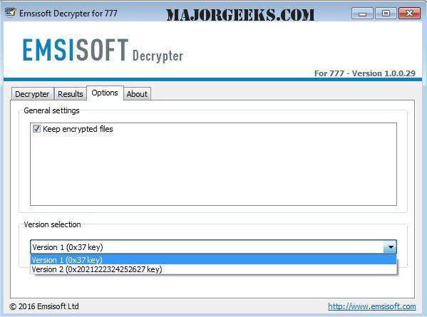 Download Emsisoft Decrypter for 777 - MajorGeeks