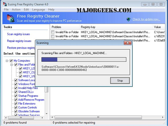 Registry cleaner pro registration key free download.