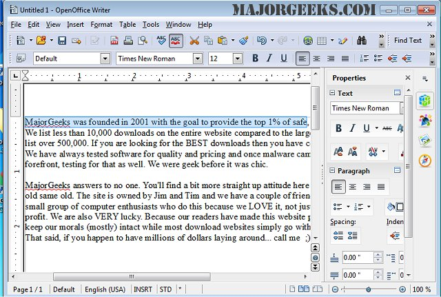 Download Apache OpenOffice For Windows - MajorGeeks
