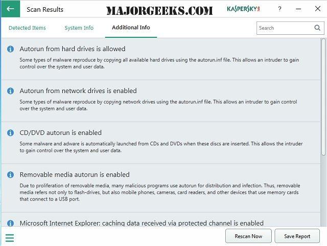 Download Kaspersky System Checker - MajorGeeks