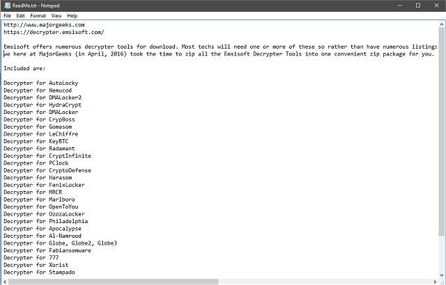 Download Emsisoft Decrypter Tools - MajorGeeks
