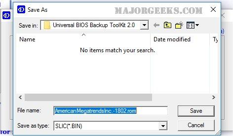 Download Universal BIOS Backup Toolkit - MajorGeeks