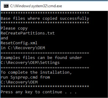 Download OEM Recovery Partition Creator - MajorGeeks