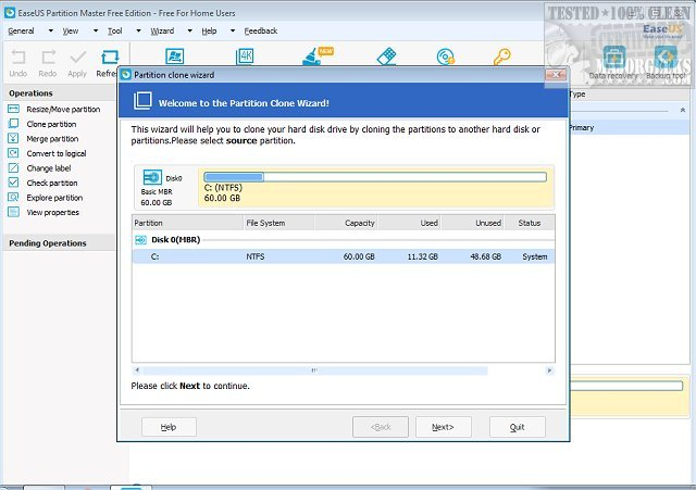 easeus partition manager xp free download